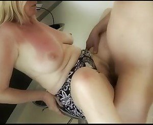 German Blonde Mature fucked in the Kitchen