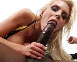 Big boob MILF sucks and rides monster black cock