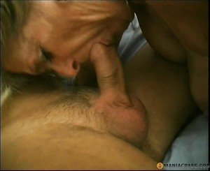 Hot stud fucks old shaggy twat