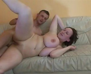 Big Natural Boob MILF swallows