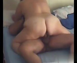 BBW Wife riding cock