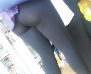legging are teasing dicks in public
