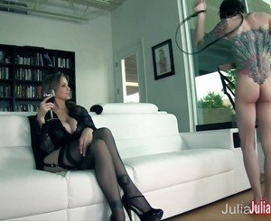 Julia Ann Demands Her Boy Toy to Service Her!