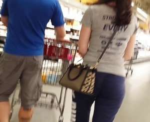 Wifey Lowkey Teasing While Hubby Shopping!