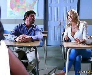 Brazzers - Parent teacher threesome