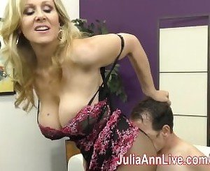 Milf Julia Ann Teases Slave with her Feet!