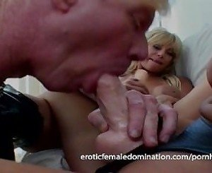 Blond guy has wild sex with a couple of blonde mistresses