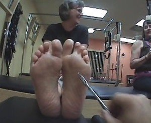 Ticklish Mature Pilates Feet