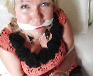 mature blonde tied