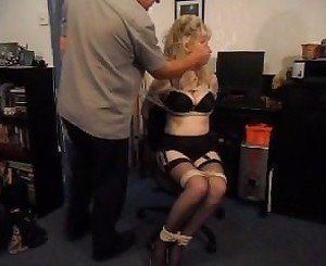 Chair tied blonde