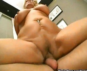 Hairy grandma takes a facial