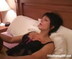 Horny Amateur Wife 1st Time Rough Anal with Black Cock