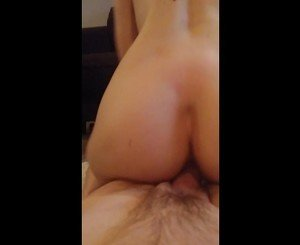 Real Amateur blonde wife rides strangers cock