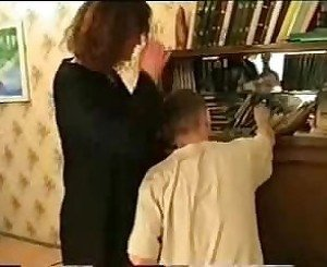 Sexy Mom seduces Son While Dad Films