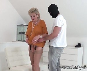 Lady Sonia abused by masked guy gets blowjob