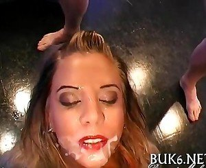 Filling babes' mouths with jizz