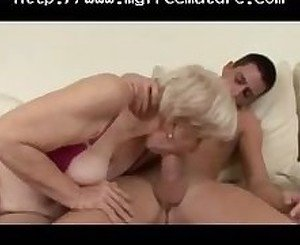 Beefy Mature  In Stockings Fucks mature mature porn granny old cumshots cumshot