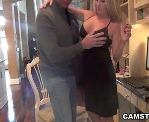 Couples have an anal creampie before dinner