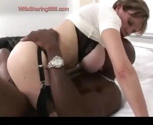 Russian Old Wife Making Rough Love with BBC