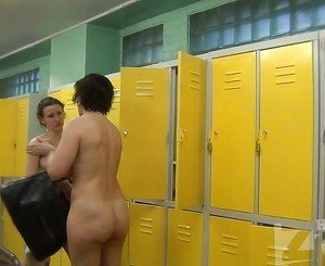 Women change clothes in the locker room 1237