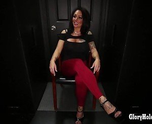 Gloryhole Secrets brunette milf loves her cum