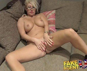 FakeAgentUK Massive facial for hot MILF