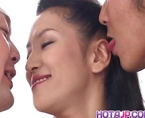 Yumi Shindo and hot threesome