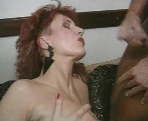 Redhead MILF Sindy Gets A Face Full Of Spunk