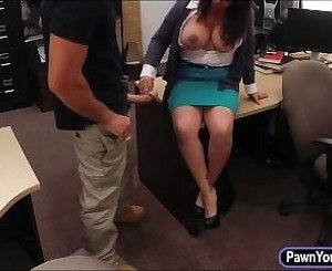 Hot big boobs milf pounded to bail out her poor husband
