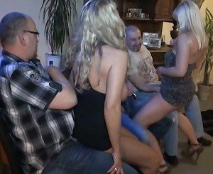 Blonde Germans in orgy