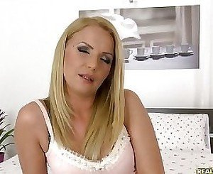 Charming blond MILF is craving for hard fuck