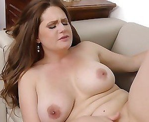 Milf with huge tits fucked deep in her peachy pussy
