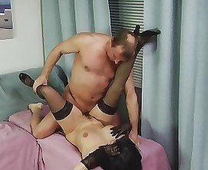 Hairy cunt of a brunette MILF gets banged hard
