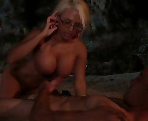 Natsy hardcore porn by the fire along two tight milfs