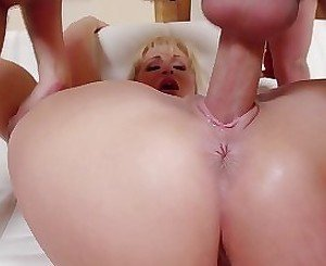 Very skillful mommy is having an outstanding cock-riding action