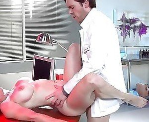 Sexy mature with big breast rides on hard cock her doctor