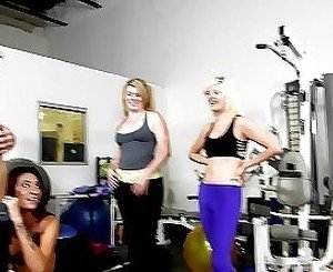 Perverted slender milf is getting screwed in the gym