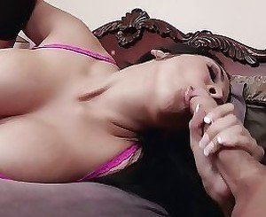 Cheating milf is swallowing two massive wiener