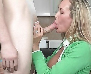 Mom and her adorable daughter are sucking a dick