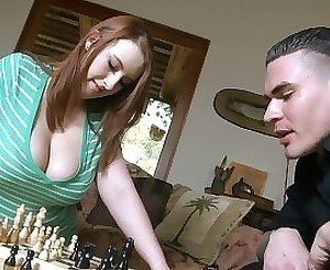 BBW redhead with giant dick nailed by her lover