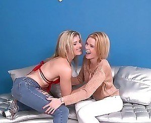 Godlike blondes gets screwed by their shared lover